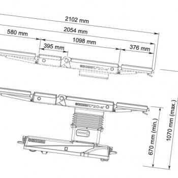 Стіл операційний універсальний ESCHMANN T20-M +